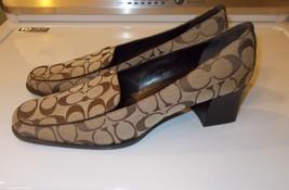Authentic Coach Signature C Pump Heels Shoes Women Us Size: 6.5 Mb Medium Euc - $72.00