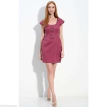 Nanette Lepore Grommet Trim Cap Sleeve Dress Size 4 - $183.05 CAD