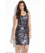 Pisarro Nights Beaded Paillette Sequin Dress - £55.82 GBP
