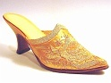 Elizabeth Creamy Roco Floral Golden Mule Elegant Coquette Just the Right Shoe