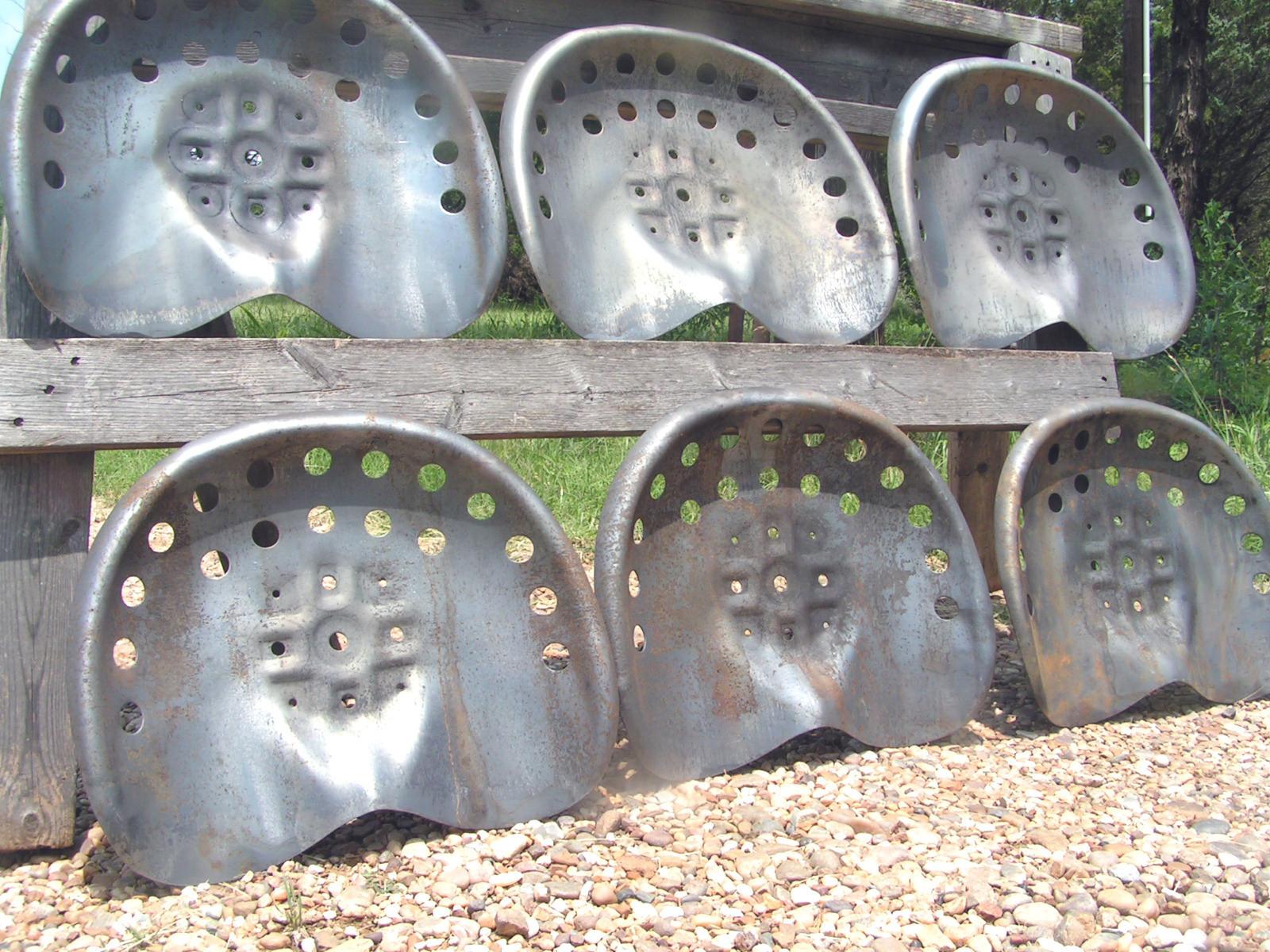 Six Steel Tractor Seats
