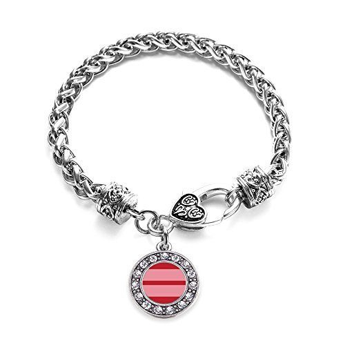 Inspired Silver Marriage Equality Circle Charm Braided Bracelet Silver Plated...
