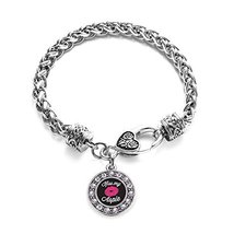 Inspired Silver Kiss My Aspie Circle Charm Braided Bracelet Silver Plate... - $9.80