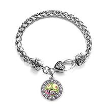 Inspired Silver Hungry Zombie Circle Charm Braided Bracelet Silver Plate... - $9.80