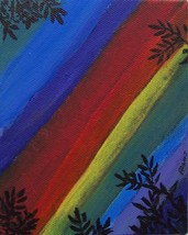 Adams Original SFA Rainbow Dreams Mixed Media 4... - $85.00