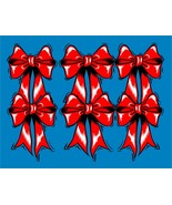 Red Bows Background-Digital clipart-Flowers  - $4.00