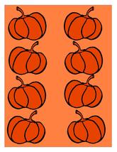 Pumpkin Background2-Digital clipart-Flowers  - $3.85