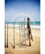 'A Vacation View' (old fence / beach) Fine Art Print - 8x10 print matted... - $25.99