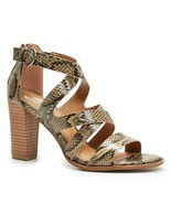 Report Reba Womens Strappy Faux Snakeskin Embossed Heeled Sandals Size ... - $29.69