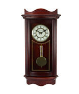 Bedford Clock Collection Weathered Chocolate Cherry Wood 25 Inch Wall Cl... - $113.36