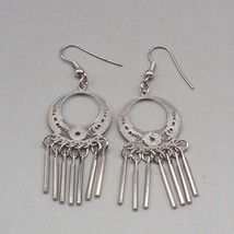Vintage Silvertone Dangle Earrings 1980's 1990's - $9.89