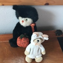 Lot of 2 Boyds Bears Cream in Black Cat Halloween Costume & Ganz Billy G... - $10.39