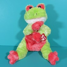 Ty Baby Pillow Pals Snugglefrog Frog Green Plush Stuffed Animal Rattle 2001 Tag - $19.95