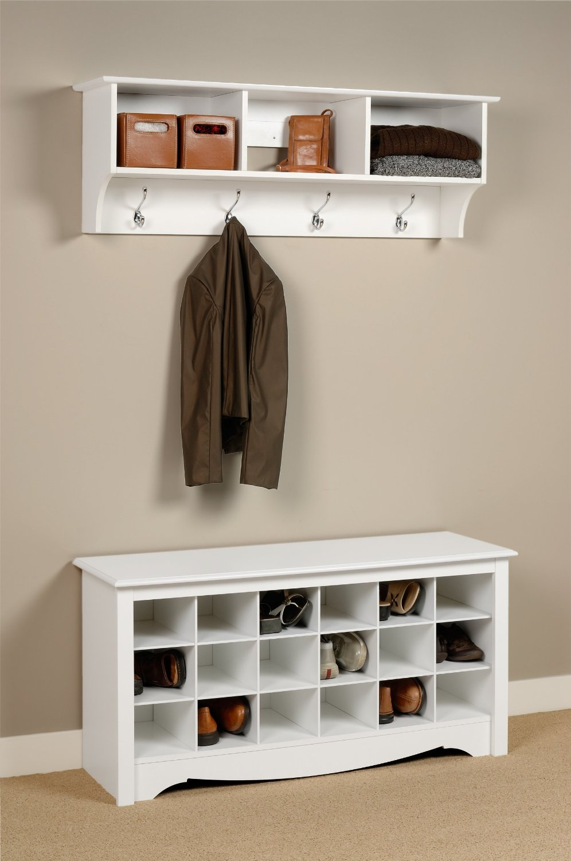 Wood entryway shoe storage organizer bench and 50 similar items