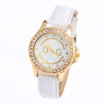 Women Diamond Beauty Dress DG Quartz Wristwatch Hours Reloj Mujer white - $28.80