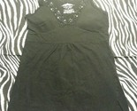~ Energie Women Juniors Black Sequin W/Soft Cup Lining Shirt Top ~ Size S ~