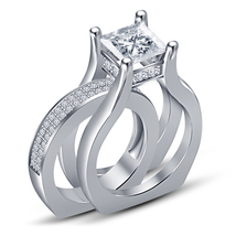 An item in the Jewelry & Watches category: 18K White Gold Over 925 Sterling Round White Sim Diamond Wedding Wrap Ring