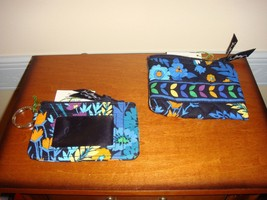 Vera Bradley Midnight Blues Coin Purse And Zip ID Case - $30.99