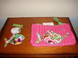 Vera Bradley Tutti Frutti Seashore Zip Pouch And Keychain - $32.99
