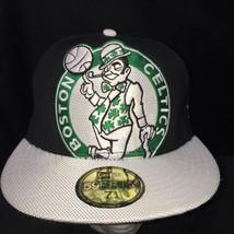 New Era Hardwood Classics Fitted Boston Celtics 59fifty Sz 7 1/4 Hat Cap - $18.66