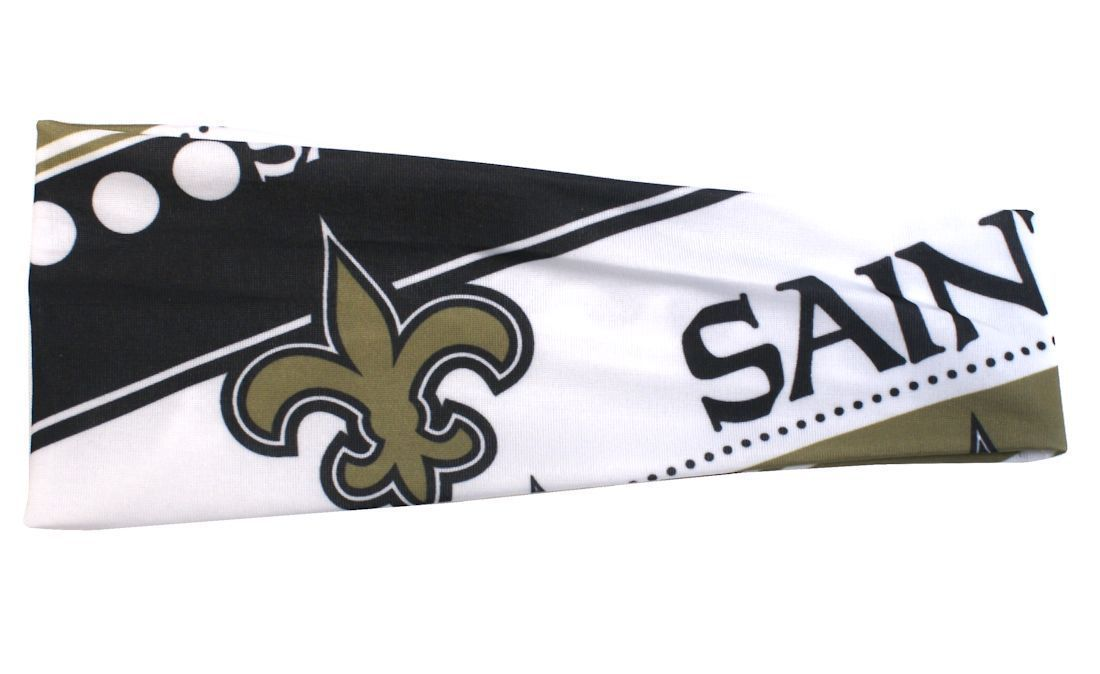 NEW ORLEANS SAINTS STRETCH PATTERN HEADBAND GAME TAILGATE PARTY NFL FOOTBALL