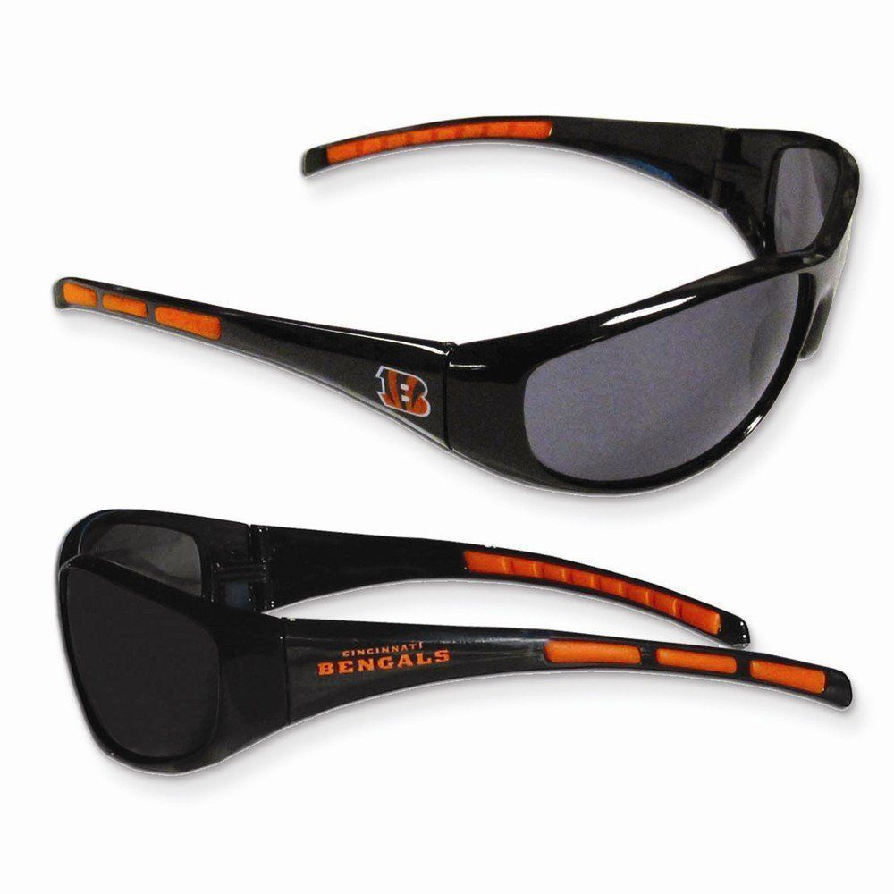 CINCINNATI BENGALS UV 400 WRAP SUNGLASSES TEAM LOGO NFL FOOTBALL #1