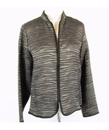 COLDWATER CREEK Size S Lightweight Silky Burnout Zipper Jacket - $16.99