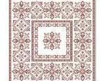Geometric Flowers floral cross stitch chart PinoyStitch