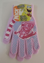 Nickelodeon SpongeBob SquarePants Pink Magic Stretch Gloves - New - $4.00