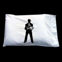 1920's Gangster cool pillowcase black pillow MAFIA tommy gun case cover ... - $11.99