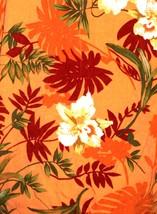 Men's Hawaiian Shirt Orange Flowers Floral Caribbean Joe Large  - $12.00