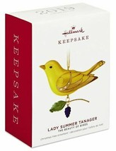 Hallmark Lady Summer Tanager Limited Edition Beauty of Birds  Keepsake Ornament - $26.60