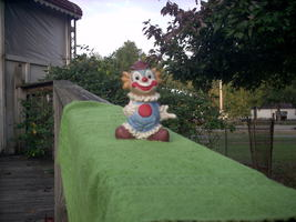 Vintage Collectible Ceramic Clown Figure 4'' Tall - $7.00