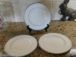 Waterford Kilbarry Platinum 3 PIECE SET Dinner Plates White - $49.45