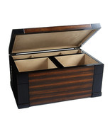 Large Wood Finish Necklace Jewelry Ring Box Fre... - $135.50