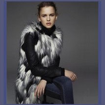 Tufted Fox Long Hair Faux Fur Sleeveless Patchwork longer Vest Jacket - ₨6,674.83 INR