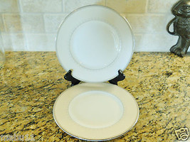 "Wedgwood China Knightsbridge 9"" Salad Plates Set of 2 Ivory Beige color - $18.80"