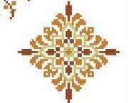 Geometric Medallions Autumn cross stitch chart PinoyStitch