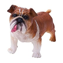 RECUR Bulldog Figurine Statue for Dog Lovers, Realistic Puppy Model Dog ... - $14.77