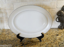 "Wedgwood China Knightsbridge 13 7/8"" Serving Platter TAUPE Beige color - $38.60"