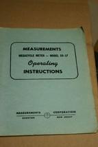Boonton Megacycle Meter Model 59-LF Operating Instructions Manual - $29.95
