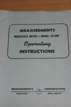 Boonton Measurements Meter Model 59-UHF Operating Instructions manual - $29.95