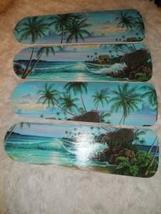CUSTOM ~ ~MOONLIGHT MOON LITE OCEAN WAVES TROPICAL PALM TREES & BEACH CE... - $99.99