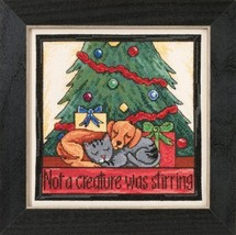 Not A Creature Was Stirring 2015 Sticks Everyday Series cross stitch kit Mill Hi - $16.20
