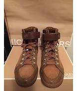 MICHAEL KORS Sneakers Greenwich Brown Suede Calf Hair High Top Shoes Sz 6.5 - $117.81