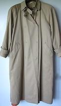 Evan Picone Trench Coat Medium Beige Khaki Doub... - $64.98
