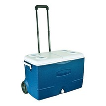 Large Blue Camping Chest / Cooler - Holds 130 Cans & Ice - Stays Frozen ... - $71.60