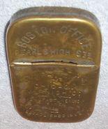 Vintage Brass Advertising Match Safe Holder Boston Office Chicago Varnis... - $75.00