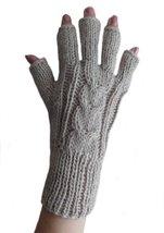 Alpakaandmore Womens Fingerless Alpaca Wool Gloves One Size Ivory - $18.62