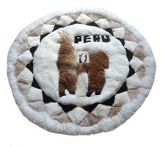 Alpaca Motive Fur Carpet From Peru And